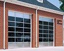 Sectional aluminium doors